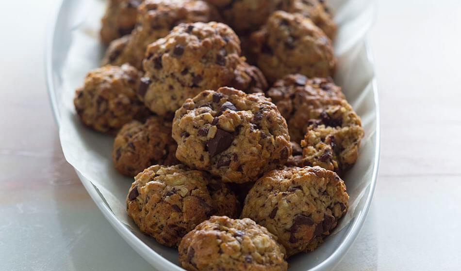 recipe image Bolachas de aveia e chocolate